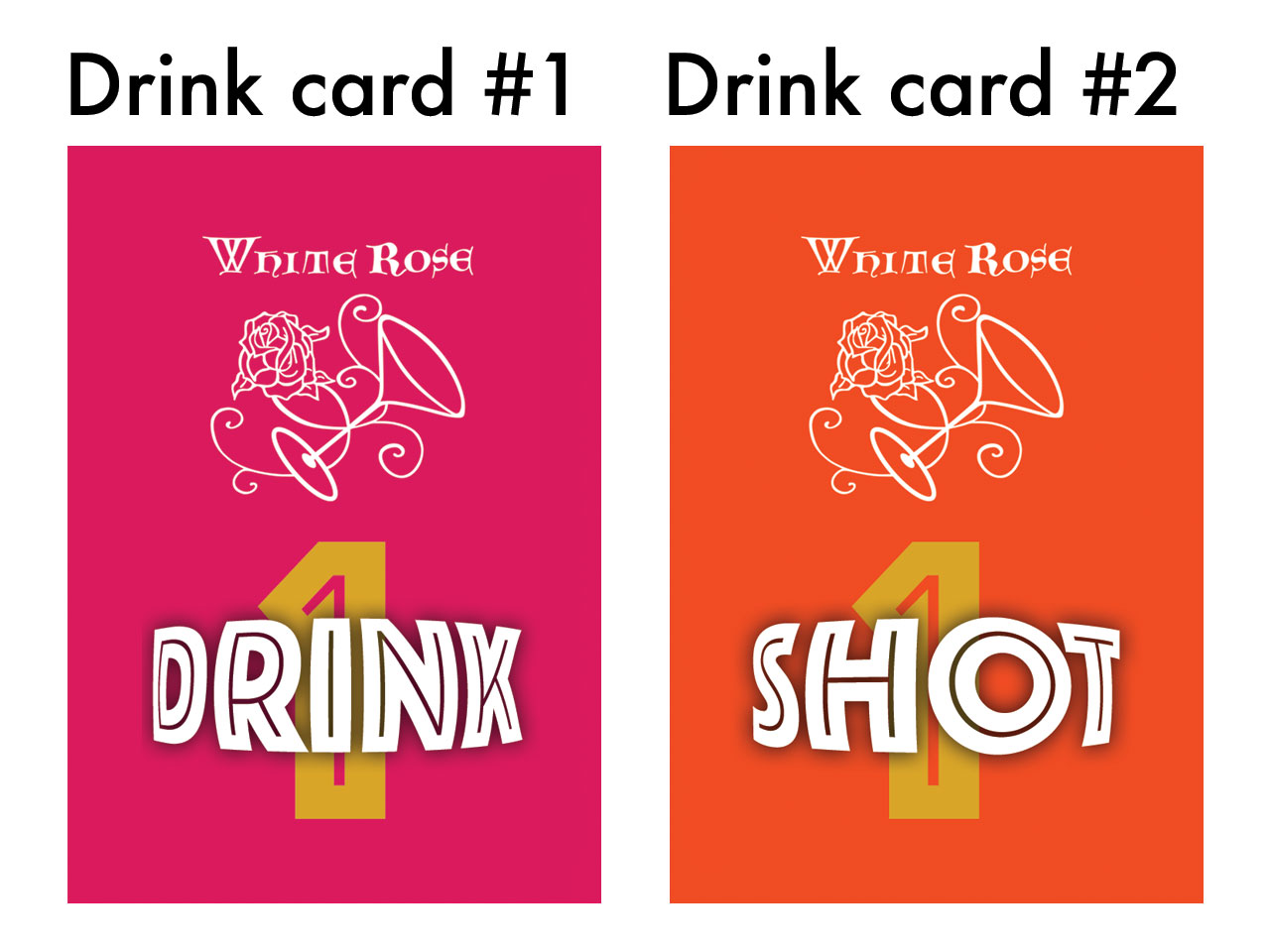 White Rose Pub Menus and Drink Cards