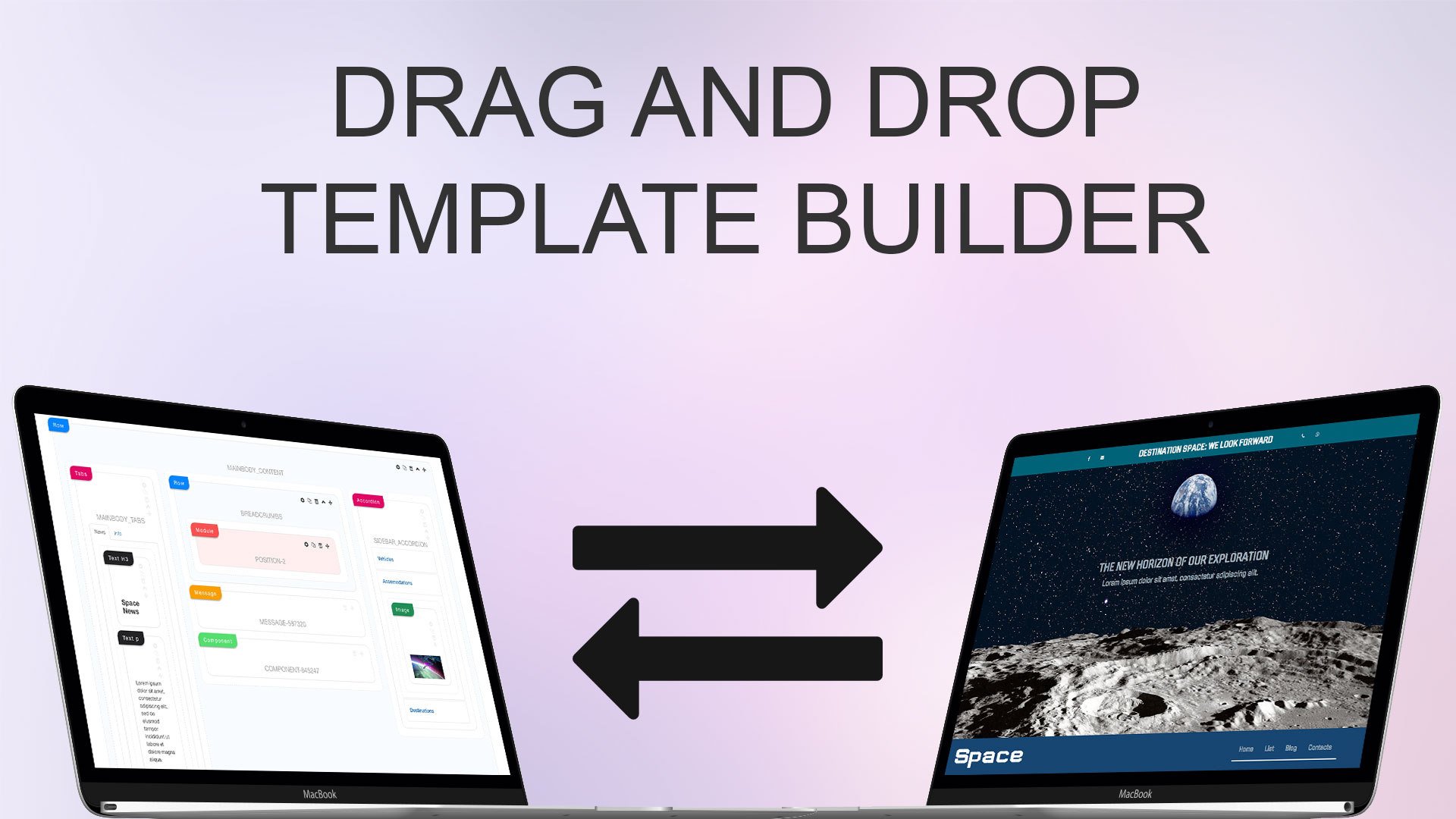 Joomla template builder drag and drop