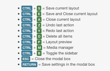 Kiolezo - Joomla keyboard shortcuts